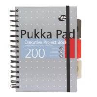 Project Book Executive A5, 125 file 80g/mp, cu spirala dubla, coperti PP, PUKKA Metallic - dictando