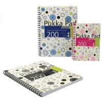 Caiet cu spirala dubla A5, 100 file 80g/mp, coperti carton, PUKKA Confetti Jotta - matematica