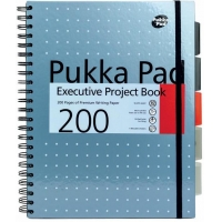 Project Book Executive A4, 125 file 80g/mp, cu spirala dubla, coperti PP, PUKKA Metallic - dictando