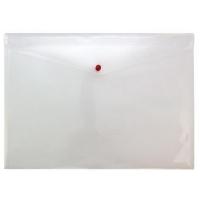 Mapa protectie documente, A3 landscape, cu 2 buzunare si capsa, 5/set, PUKKA - transparent mat