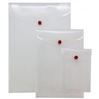 Mapa protectie documente, A4 portrait, cu capsa, 5/set, PUKKA - transparent mat