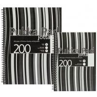 Caiet cu spirala dubla A4, 100 file 80g/mp, coperti PP, PUKKA Black Stripes - dictando