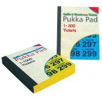 Caiet tichete, 140 x 102mm, 500 tichete tombola/garderoba - PUKKA Raffle tickets - culori asortate
