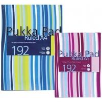 Registru A6, 96 file 80g/mp, coperti carton rigid, PUKKA Stripes - dictando