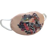 Masca de protectie reutilizabila, din material textil, cu motive traditionale romanesti