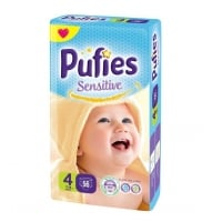 Scutece Pufies Sensitive Maxi 4, 7-14 Kg, 56 buc