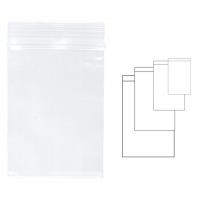 Pungi plastic cu fermoar pentru sigilare,  80 x 120 mm, 100 buc/set, KANGARO - transparente