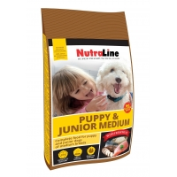 Nutraline Dog Puppy&Junior Medium, 3 kg