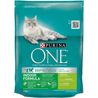 Purina ONE Indoor Cat cu Curcan, 200 g