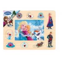 Puzzle Mozaic de Lemn cu Pins Brimarex, Frozen