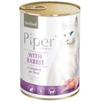Piper Cat Adult Sterilizat cu Iepure, 12x400 g