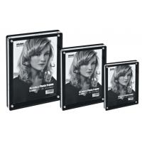 Display acrilic cu magneti, pentru fotografii, 178 x 127mm, KEJEA - transparent/negru