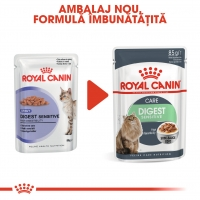 Royal Canin Digest Sensitive Care Adult, bax hrană umedă pisici, confort digestiv, (în sos), 85g x 12