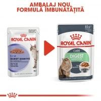 Royal Canin Digest Sensitive Care Adult, bax hrană umedă pisici, confort digestiv, (în sos), 85g x 24