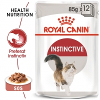 Pachet Royal Canin Adult Instinctive in Gravy, 12 x 85 g
