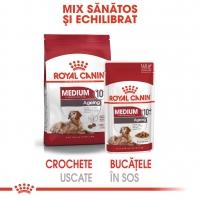 Pachet Royal Canin Medium Ageing 10+, 10x140 g