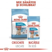 Pachet Royal Canin Medium Puppy, 10 x 140 g