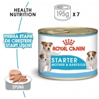 Pachet Royal Canin Mini Starter Mousse, 7 x 195 g