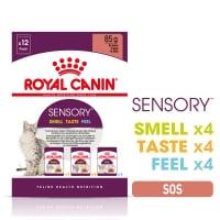 Royal Canin Sensory, pachet mixt, plic hrană umedă pisici, stimularea simțurilor (în sos), 85g x 12