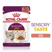 Royal Canin Sensory Taste, plic hrană umedă pisici, stimularea gustului (în sos), 85g x 12