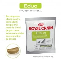 Royal Canin Educ, pachet economic recompense hipocalorice câini, 50g x 10