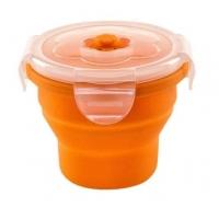 Recipient Pliabil Pentru Hrana Nuvita, Orange