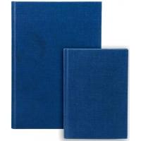 Repertoar A6, 96 file 70g/mp, coperti carton rigid, Business Blue - dictando