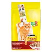 Friskies Cat Adult Carne de Vita, Pui si Legume, 10 Kg