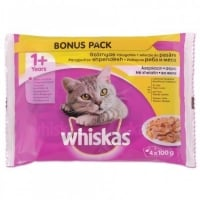 Whiskas Multipack Adult Selectii Pasare 4x100 g