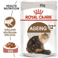 Royal Canin Ageing 12+, plic hrană umedă pisici senior, (în sos), 85g