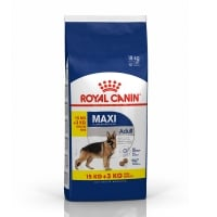 Royal Canin Maxi Adult, 15 kg + 3 kg Gratis
