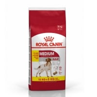 Royal Canin Medium Adult, 15 kg + 3 kg Gratis