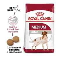 Royal Canin Medium Adult, 15 kg + 3 kg Gratis