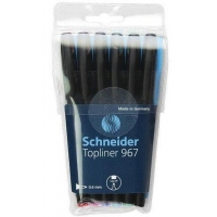Liner SCHNEIDER  967, varf fetru 0.4mm,  6 culori/set - (N, R, A, V, Vi, Roz)