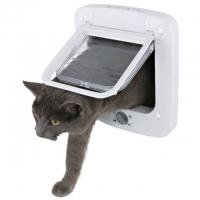 Usa Batanta Trixie 4-Way pentru Pisici, cu Tunel 21x21 cm, Alb