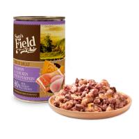 Hrana Umeda Pentru Caini, Sam's Field Somon, Pui si Dovleac, 400 g