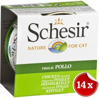 Pachet Conserve Schesir Cat Pui File in Aspic 14x85 g