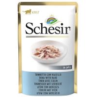 Schesir, Plic, Hrana umeda pentru pisici cu Ton si Merluciu in Jeleu, 85 g