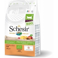 Schesir Cat Bio Adult Sterilised cu Pui, 400 g