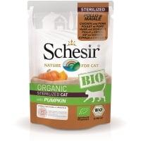 Schesir Cat Bio Sterilised Pui, Porc si Dovleac, Plic 85 g