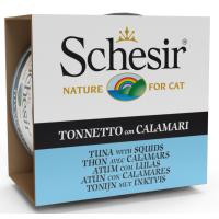Schesir Cat  Sea Specialities Conserva Ton si Calamari, 85 g