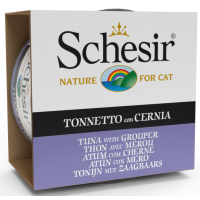 Schesir Cat Sea Specialities Conserva Ton si Peste Grouper, 85 g