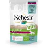 Schesir Dog Bio Puppy cu Pui,  85 g
