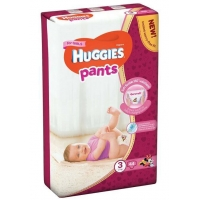 Scutece Chilotel Huggies Jumbo Pack 3, Girl, 6-11 Kg, 44 buc