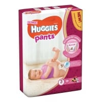 Scutece Chilotel Huggies Mega Pack 3, Girl, 6-11 Kg, 58 buc
