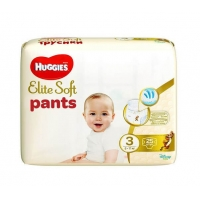 Scutece Huggies Elite Soft Pants 3 Convi 6-11 Kg, 25 buc