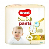 Scutece Huggies Elite Soft Pants 4 Convi 9-14 Kg, 21 buc