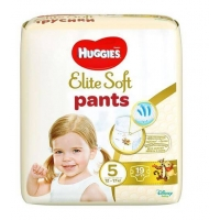 Scutece Huggies Elite Soft Pants 5 Convi 12-17 Kg, 19 buc