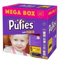 Scutece Pufies Baby Art Junior Mega Box 5, 11-20 Kg, 117 buc