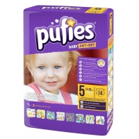 Scutece Pufies Baby Sensitive Junior 5, 11-20, 14 buc